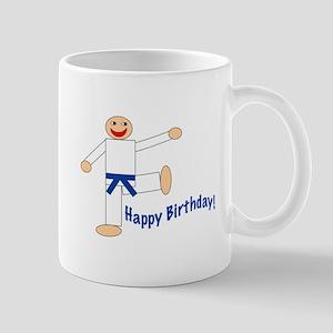 Martial Arts Dk Blue Belt Birthday Mug