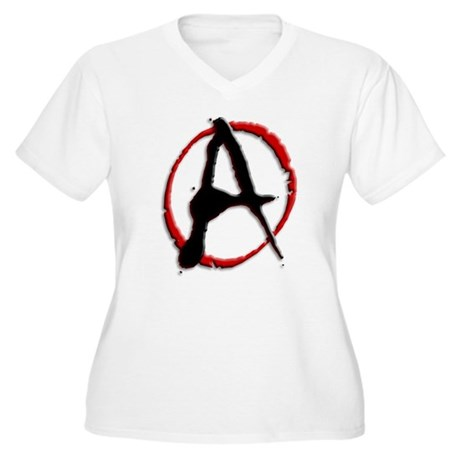 Anarchy Now Women's Plus Size V-Neck T-Shirt