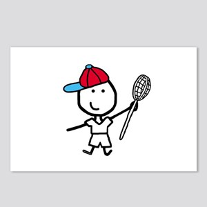 Boy & Lacrosse Postcards (Package of 8)