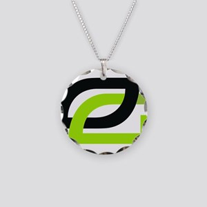 Optic Necklace Circle Charm