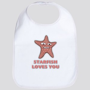 Starfish Loves You Bib