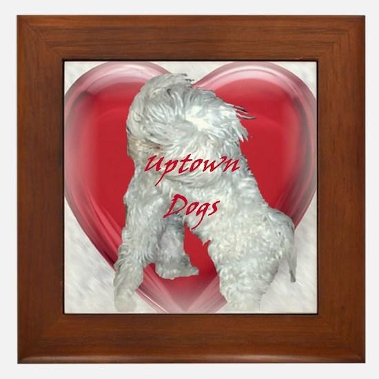 Uptown Dogs Framed Tile