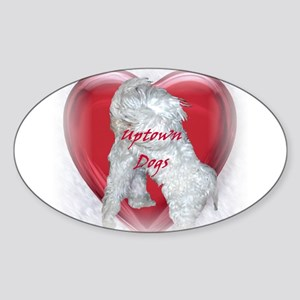 Uptown Dogs Oval Sticker
