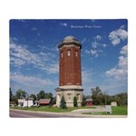 Manistique Water Tower Wide Throw Blanket