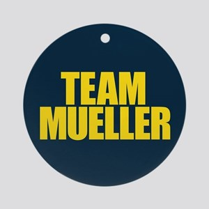 Team Mueller Round Ornament