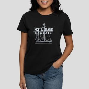 Jekyll Sailboat - Women's Dark T-Shirt