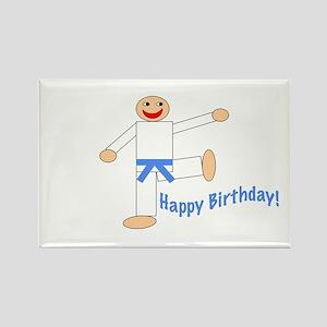 Light Blue Belt Happy Birthday Rectangle Magnet