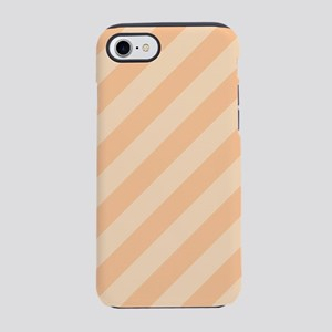 Pastel Melon Diagonal Stripes iPhone 7 Tough Case