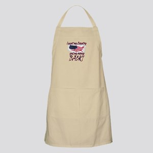 Country Back BBQ Apron