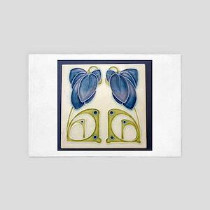 Art Nouveau Ceramic Tile 4' x 6' Rug