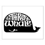Thirsty Whale Small Poster w/ Black Whale