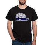 Thirsty Whale Dark T-Shirt w/ Navy Whale