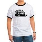 Thirsty Whale Ringer T with black whale