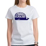 Thirsty Whale Women's T-Shirt w/ Navy Whale