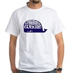 Thirsty Whale White T-Shirt w/ Navy Whale