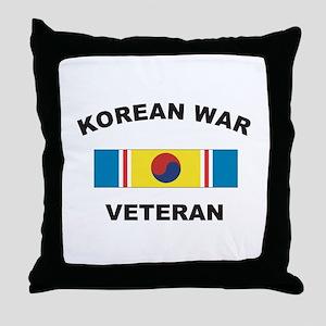 Korean War Veteran 2 Throw Pillow