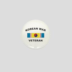 Korean War Veteran 2 Mini Button