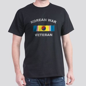 Korean War Veteran 2 Black T-Shirt