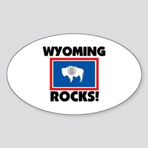 Wyoming Rocks Oval Sticker
