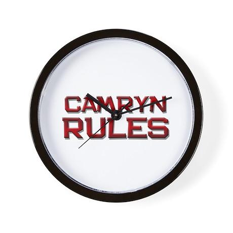 camryn rules Wall Clock