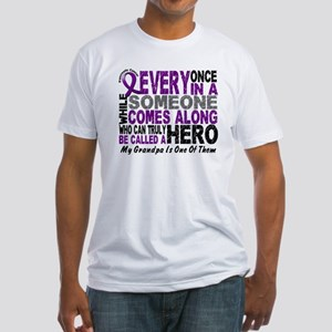 HERO Comes Along 1 Grandpa PC Fitted T-Shirt