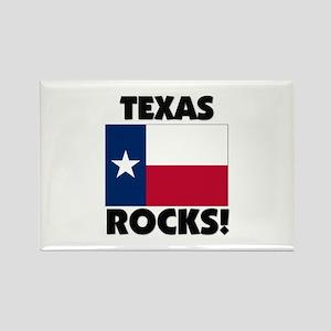 Texas Rocks Rectangle Magnet
