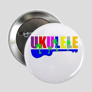 "rainbow hawaiian colors ukulele 2.25"" Button"
