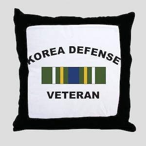 Korea Defense Veteran Throw Pillow