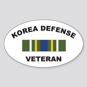 Korea Defense Veteran Oval Sticker