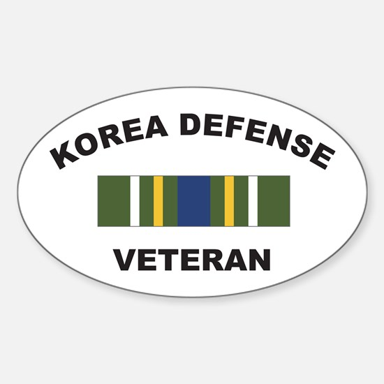 Korea Defense Veteran Oval Decal
