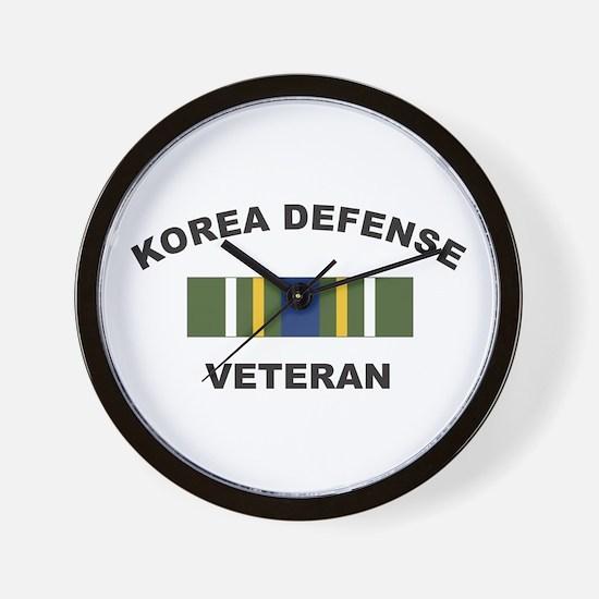 Korea Defense Veteran Wall Clock