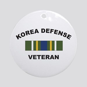 Korea Defense Veteran Ornament (Round)