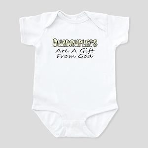 Quadruplets are a gift from God Infant Bodysuit