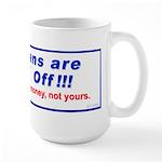 """""""Tea-d Off"""" Large Mug"""