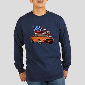 American Muscle Car Long Sleeve Dark T-Shirt