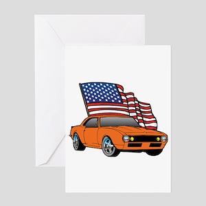 American Muscle Car Greeting Card