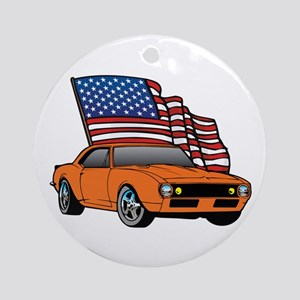 American Muscle Car Ornament (Round)