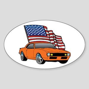 American Muscle Car Oval Sticker