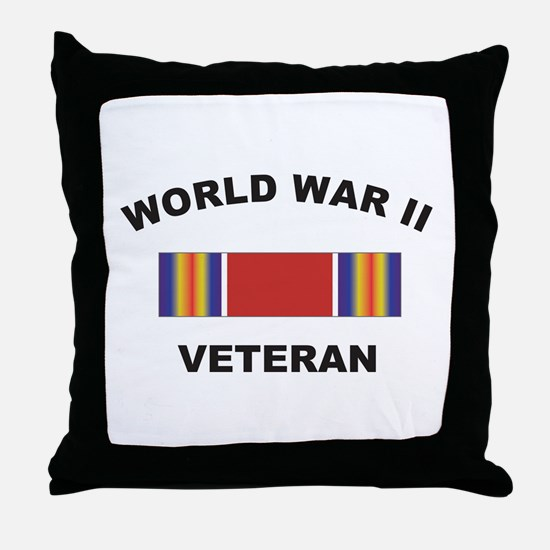 World War II Veteran Throw Pillow