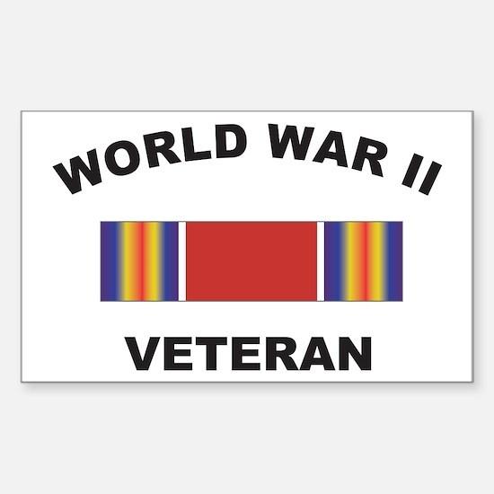 World War II Veteran Rectangle Decal
