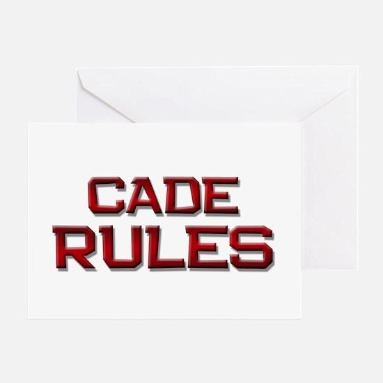 cade rules Greeting Card