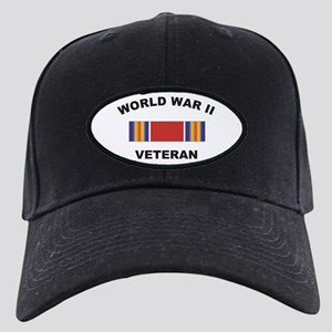 World War II Veteran Black Cap