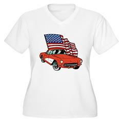 American Flag Car T-Shirt