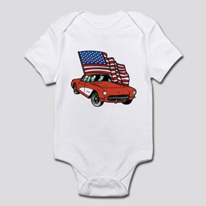 American Flag Car Infant Bodysuit