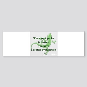 Reptile Dysfunction Bumper Sticker