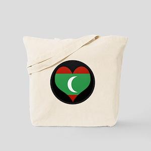 I love maldives Flag Tote Bag
