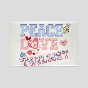 Peace Love Twilight Rectangle Magnet