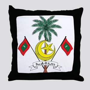 maldives Coat of Arms Throw Pillow