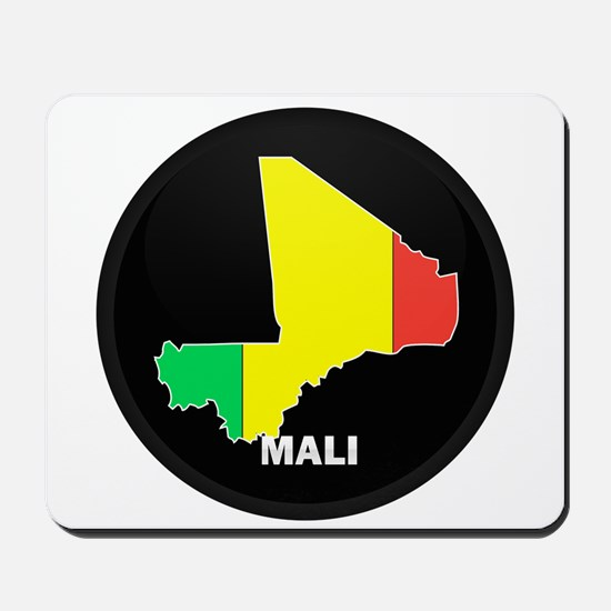 Flag Map of mali Mousepad