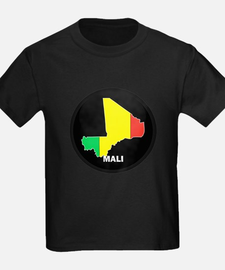 Flag Map of mali T